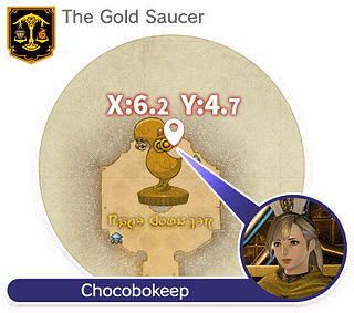 The Gold Saucer, Chocobo Square (X:6.2 Y:4.7)